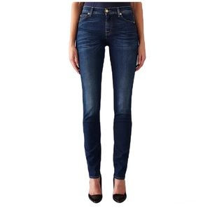 7 For All Mankind Roxanne Mid Rise Slim Jeans, Blue Size 26